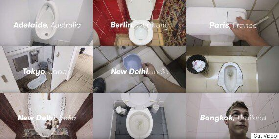세계의 공중화장실을 90초 동안 돌아보는
