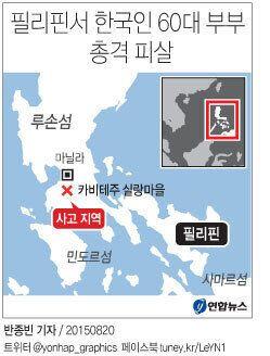 필리핀서 한국인 60대 부부 총격