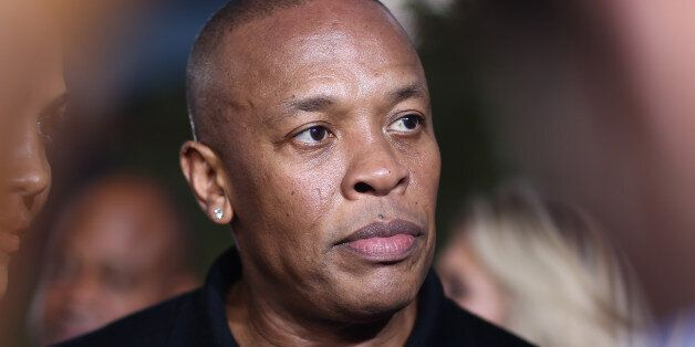 Dr. Dre arrives at the Los Angeles premiere