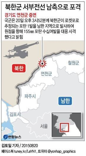 북한군 포격 도발에 우리 군