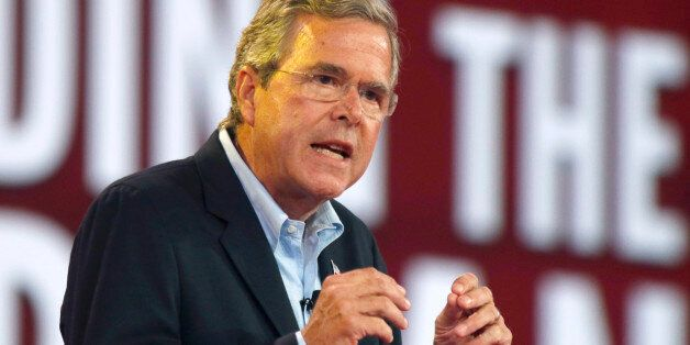 Republican presidential candidate, former Florida Gov. Jeb Bush, speaks at the Defending the American...