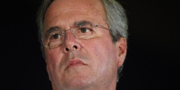 Republican presidential candidate, former Florida Gov. Jeb Bush listens during a town hall meeting on...