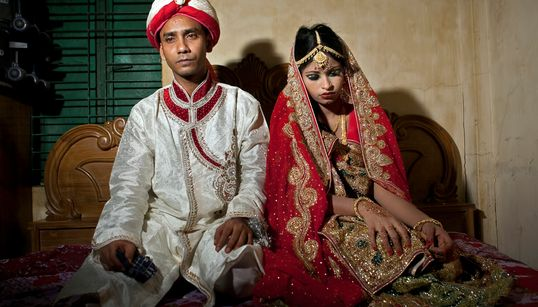 방글라데시 소녀 신부의 가슴 아픈