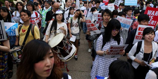 일본대학생들 전국 64곳서 집단자위권 법안 반대