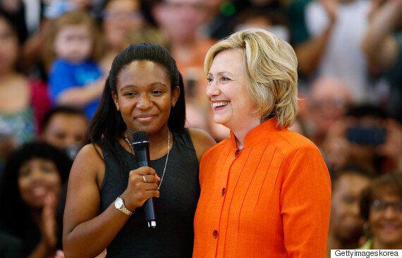 유세 방해한 흑인운동가들을 만난 힐러리의 '충고'