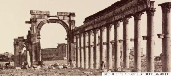 IS가 파괴한 팔미라 유적을 보여주는 18, 19세기 사진과 그림들(슬라이드