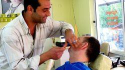 터키 남자들이 IS에 반대하기 위해 수염을