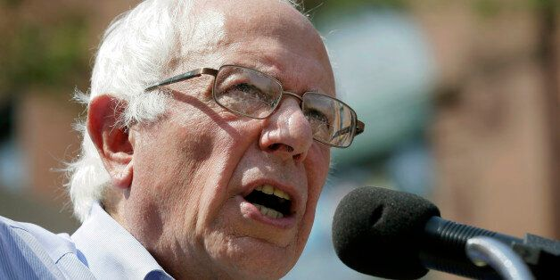 Democratic presidential candidate, Sen. Bernie Sanders, I-Vt., speaks during the opening of his Cedar...