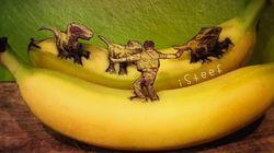 이 놀라운 바나나 아트를