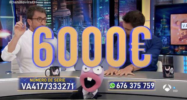 El programa 'El Hormiguero' anuncia que quien encuentre el billete de 10 euros se llevará 6.000