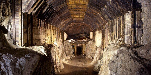 FILE - This file photo from March.2012, shows a part of a subterranean system built by Nazi Germany in...