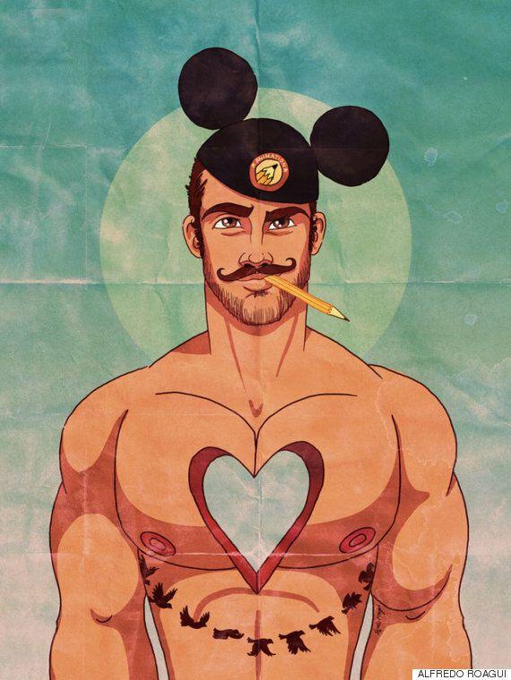 게이 캐릭터로 재창조한 디즈니