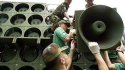 북한군도 확성기 방송