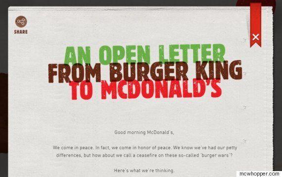 버거킹, 맥도날드에 '맥와퍼'