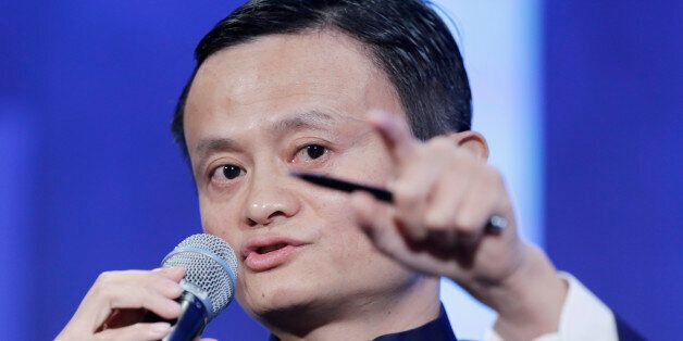 Jack Ma, founder of Alibaba, speaks at the Clinton Global Initiative in a