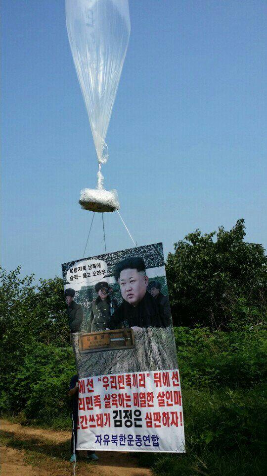 탈북자단체, 경기도 접경지역서 대북전단 기습