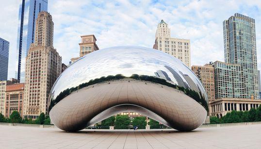 중국에 시카고 '클라우드 게이트' 닮은 조형물