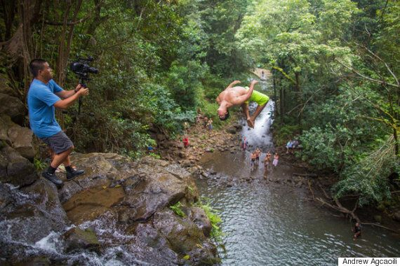 모험여행을 새로운 경지로 끌어올린 절벽 다이빙(사진,