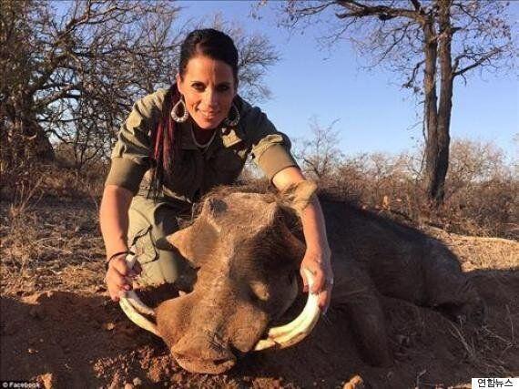 기린을 도륙한 여자...전 세계인의 비난을