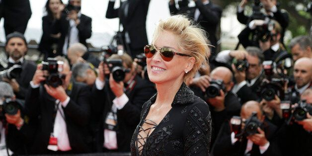 Actress Sharon Stone arrives for the screening of The Search at the 67th international film festival,...