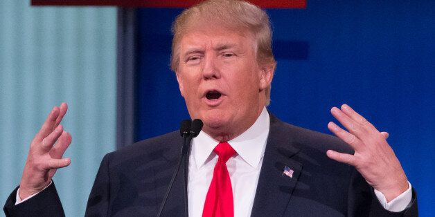 Republican presidential candidate Donald Trump participates in the first Republican presidential debate...