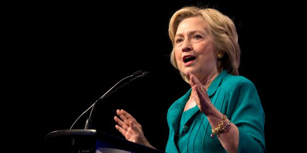 Democratic presidential candidate Hillary Rodham Clinton speaks before the National Urban League, Friday,...