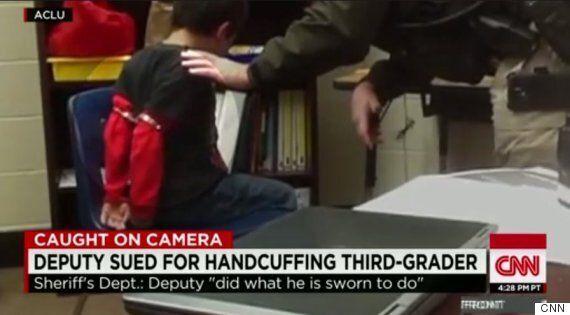 미국 인권단체 '주의산만' 아동에 수갑채운 경찰