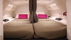 비행기에는 숨겨진 승무원 수면 공간이