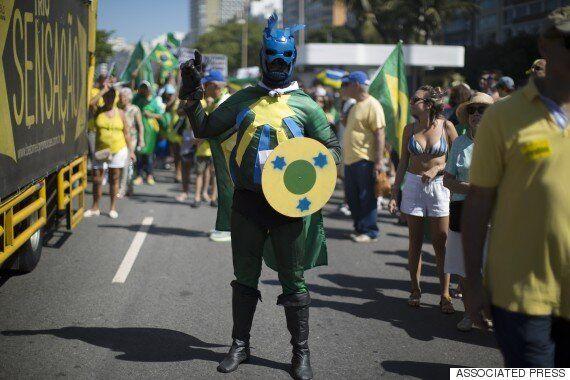 브라질 전국에서 탄핵 촉구 대규모 반정부