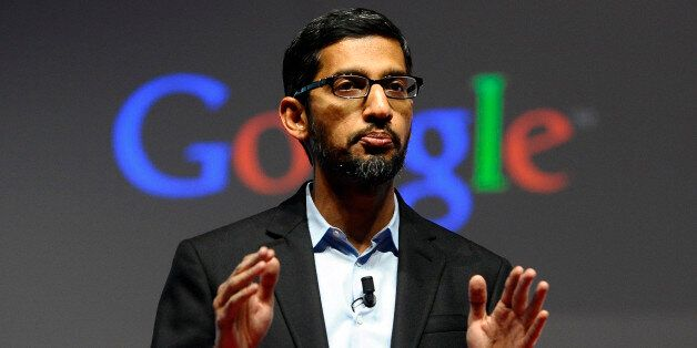 FILE - In this Monday, March 2, 2015 file photo, Sundar Pichai, senior vice president of Android, Chrome...