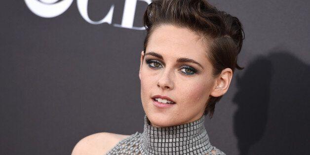 Kristen Stewart arrives at the Hollywood Film Awards at the Palladium on Friday, Nov. 14, 2014, in Los...