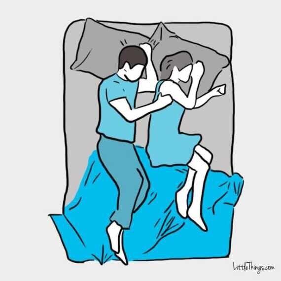 연인과 함께 자는 자세가 두 사람의 관계를