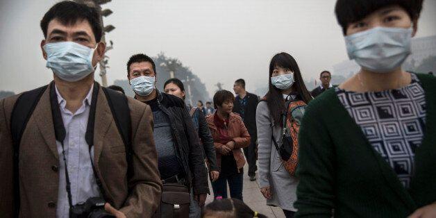 중국에서 대기오염으로 매일 4천명이