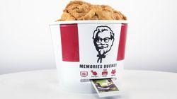 포토프린터가 내장된 KFC의 치킨