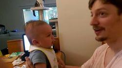 3달 아기가 '아이 러브 유'를 처음