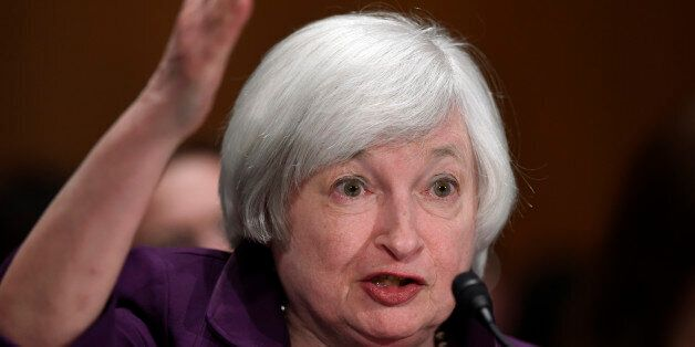 Federal Reserve Chair Janet Yellen testifies on Capitol Hill in Washington, Thursday, July 16, 2015,...