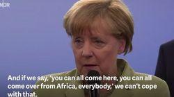 TV토론에서 난민 소녀의 호소를 들은 메르켈의