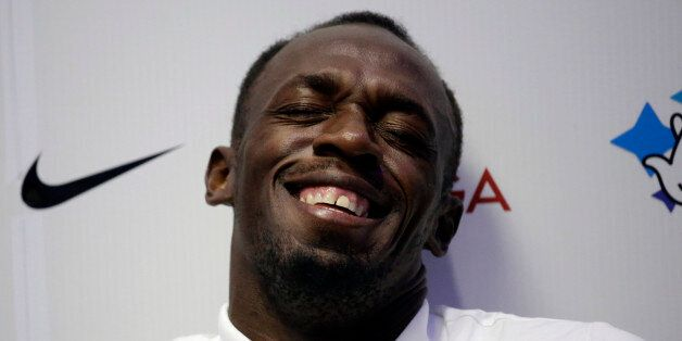 Jamaican sprinter Usain Bolt, the world record holder and Olympic champion in the 100 metres and 200...