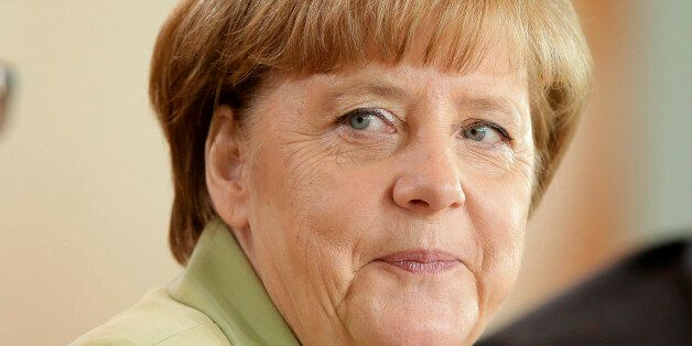 German Chancellor Angela Merkel attends the weekly cabinet meeting at the Chancellery in Berlin, Germany,...