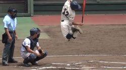 어느 일본 고교 야구선수의 놀라운 타격