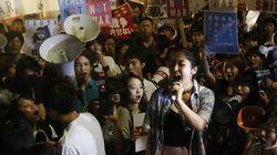 일본 학생의 시위는 한국과는