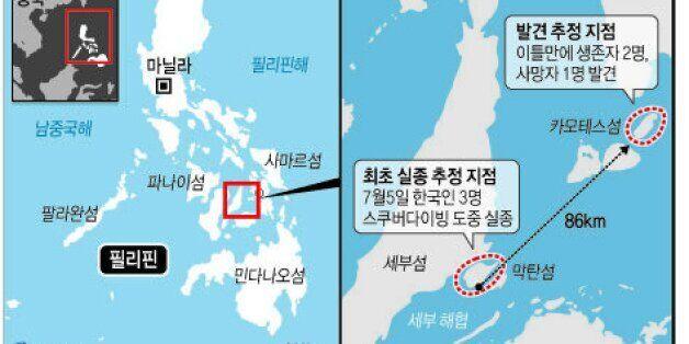 필리핀서 실종된 한국인 1명 86Km 떨어진 곳에서