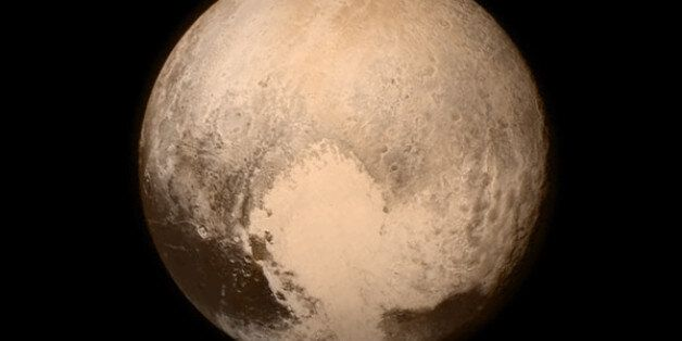 This July 13, 2015 image provided by NASA shows Pluto from the New Horizons spacecraft. The United States...