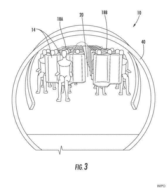 지그재그 비행기 좌석 배치 특허가 등록됐다