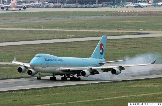 대한항공 여객기 괌 착륙 중 미끄러져 활주로 이탈