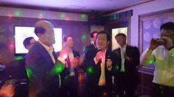 홍준표, 도의원들과 노래방 3곡+대야주 폭탄(사진