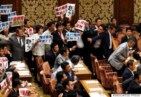 아베 정권, 집단자위권법 오늘 중의원 표결
