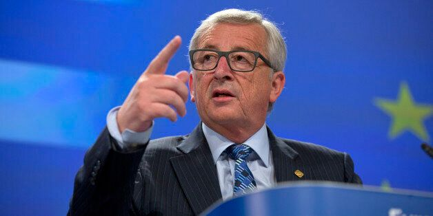 European Commission President Jean-Claude Juncker speaks during a media conference at EU headquarters...