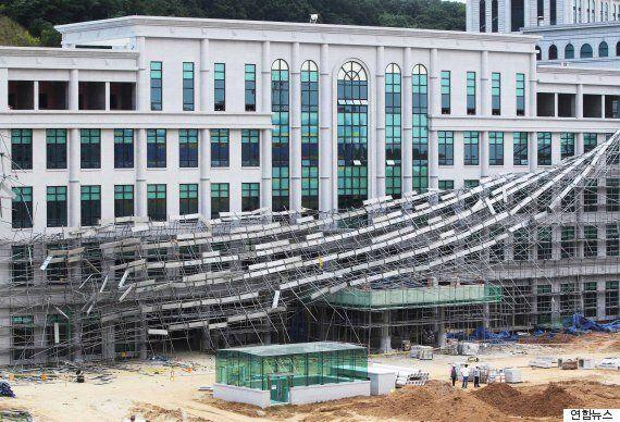 천안 백석대 공사장 임시가설물 붕괴, 노동자 3명