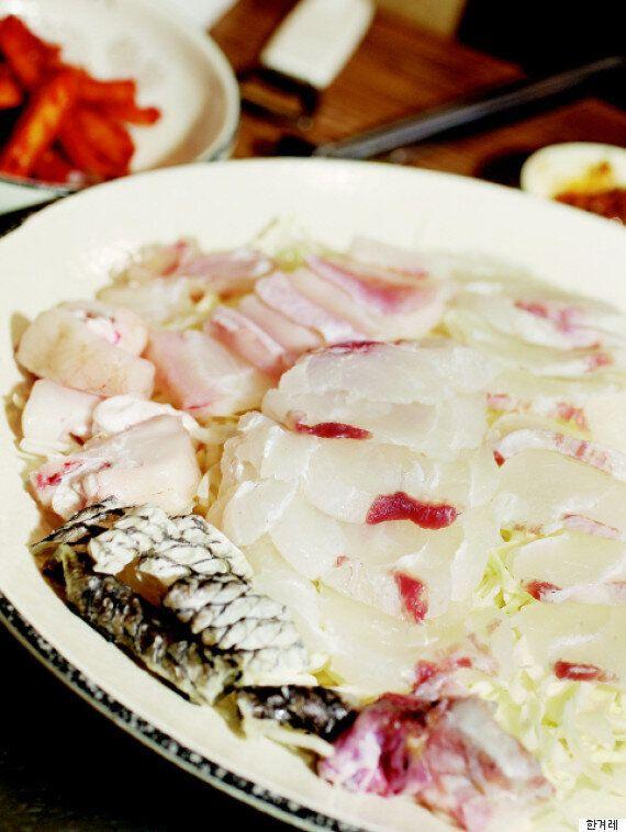 초거대 민어를 서울서 맛나게 먹는